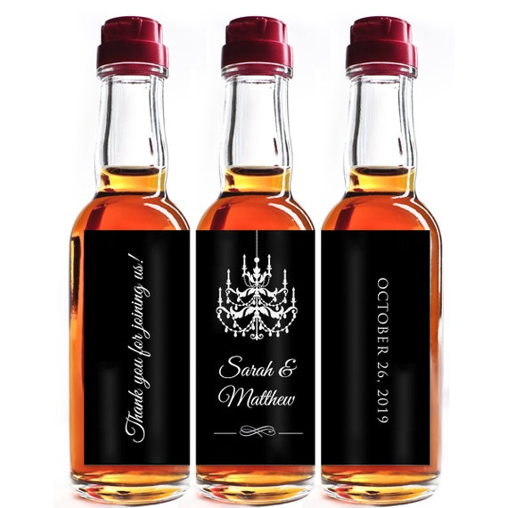 Custom liquor mini bottle favors personalized labels for Custom liquor bottles