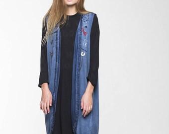 ON SALE Blue Sleeveless Cardigan - Accomplishment