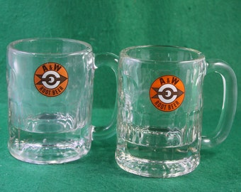 Pair of 1960's A & W  8 oz root beer mugs.