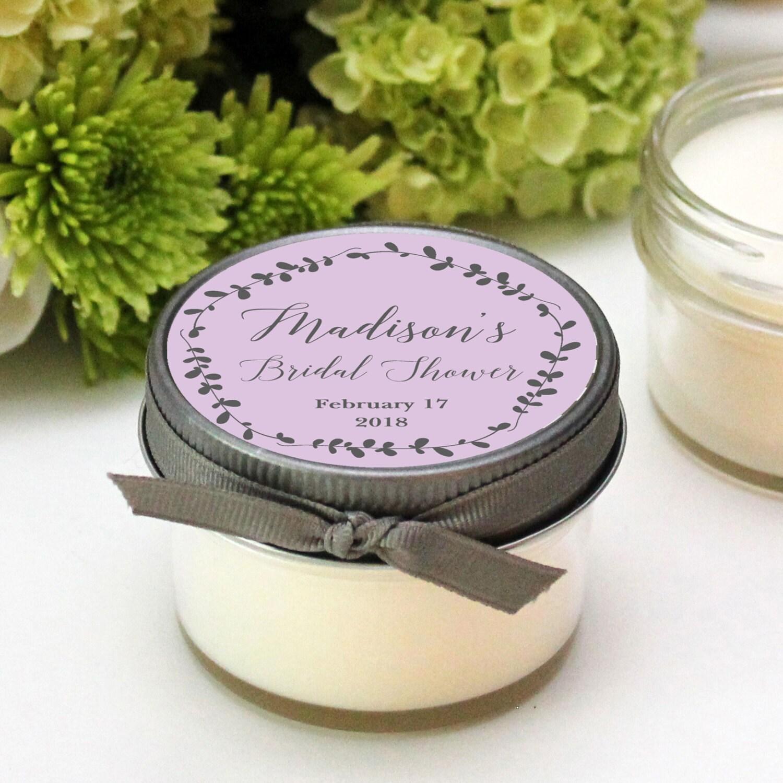 Bridal Shower Favor Candles Laurel Label Design Baby Shower