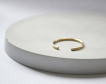 Open band ring // adjustable stacking ring in gold or silver