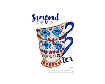 Notecard or Print~Samford is my cup of tea