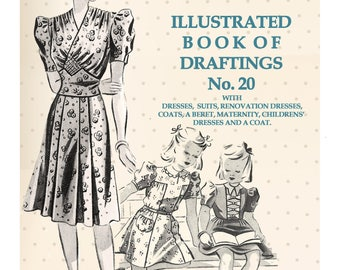 The Haslam System of Dresscutting No. 20 1940's Rationing Era - PDF Booklet Instant Download