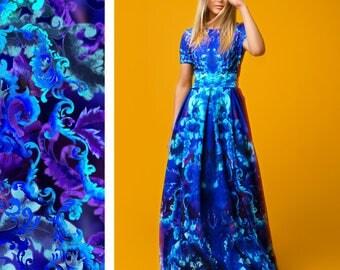 Plus Size Maxi Dress, Maxi Floral Dress, Bridesmaid Dress, Blue Dress, Ball Dress, Bohemian Clothing, Pocket Dress, Fashion Dress