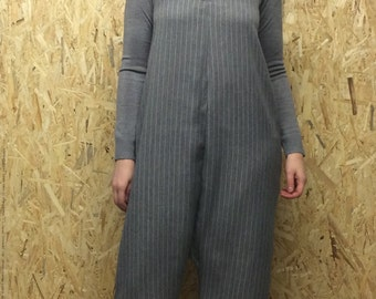 Grey Pinstripe Jumpsuit