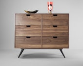 Dresser,commode  credenza in Oak solid board  modern mid century