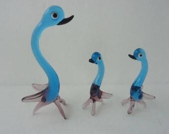 Handblown Glass Bird Figurines