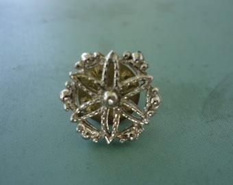 Silver Flower-Like Designed Tie Tack
