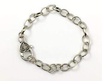 5 chain bracelets silver tone  #FIN 056