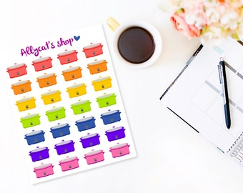 Slow Cooker Planner Stickers - Planner Stickers