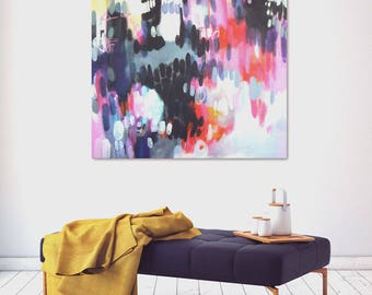 Blowing kisses  - original abstract painting