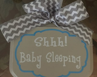 Shh Baby Sleeping Wood Sign