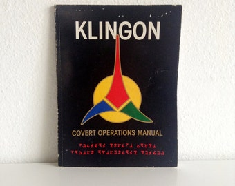 "Vintage 1989 Sci-Fi Book: ""Klingon Strike Force Covert Operations Manual"", by David Christensen & Cathy Doser"