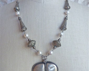 Pearl Shield Necklace