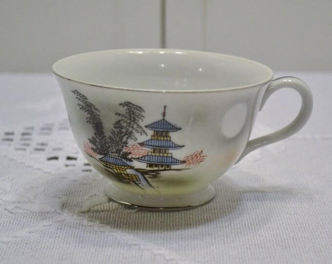 Vintage Kutani China Cup Pagoda Replacement Japanese Asian PanchosPorch