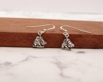 Koala bear earrings with cute mom & baby charm in sterling silver