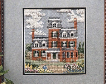 CROSS STITCH PATTERN - Victorian House Counted Cross Stitch Pattern - Antique Mansion Cross Stitch - Summer House Cross Stitch