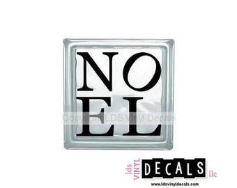 NOEL - Christmas Vinyl Lettering for Glass Blocks - Holiday Decals for Crafts