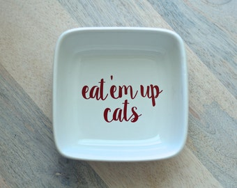 Eat'em up cats || Texas State Small Jewelry Dish