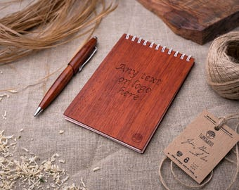 Wood Notebook any engraving, Wooden Notebook, Wood Notepad, Wooden Sketchbook, St. Valentine's Day Gift, Personalized note book, Sketch Pad