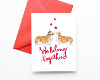 Corgi Dogs Valentineu0027s Day Cards | Corgi Dog Valentine Cards | Fun And Cute  Anniversary Greeting