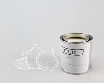 12 // Figmint - Half Pint (8oz) Scented Soy Candle in Paint Can (Fig and Mint)
