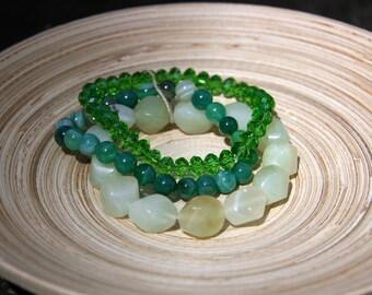 Green Energy Bracelet Set