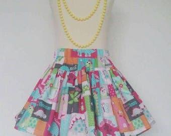 Dinosaur skirt, dinosaur party, twirl skirt, girls clothing, kids childrenswear, uk
