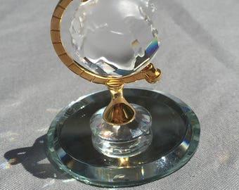 Retired Swarovski Miniature Globe figurine