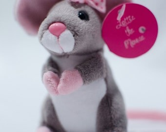 Mouse Stuffed Animal, Mouse plush toy - Birthday Gift - Activities for Kids