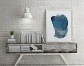 Blue Wall Art for Living Room. Wall Decor. Abstract Art Gift. Modern Wall Art Decor. Blue Abstract Art Print.