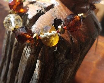 Brown Bling Bracelet