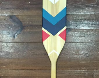 Wooden Oar Custom Painted Decorative Paddle