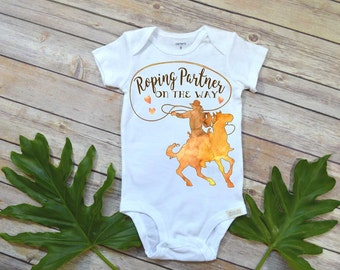 Roping Partner on the Way, Pregnancy Announcement, Baby Reveal, Pregnancy Reveal, Cowboy shirt, Country Baby, Expecting Baby shirt,Farm baby