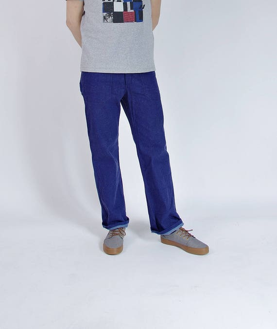 SALE 40% OFF - 90s Kempel Sanforized Workwear Denim Pants / Men M/L