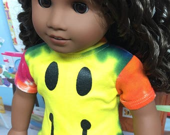 Up-Cycled Happy Face Shirt for American Girl Dolls or any 18 inch doll