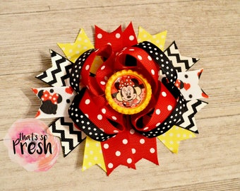 Minnie Mouse hair bow, Minnie Mouse headband, Minnie Mouse birthday, Minnie mouse outfit, Minnie Mouse, Disney vacation