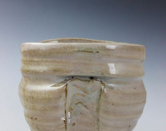 White Shino Ovoidal Vase