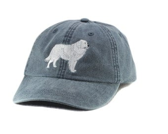 Great Pyrenees embroidered hat, baseball cap, dog lover gift, pet mom cap, dad hat, mom, gift for pet lover, agility dog, great pyr