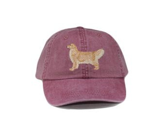 Golden retriever embroidered hat, baseball cap, dog lover gift, pet mom cap, dog mom, gift for pet lover, dad hat, dog agility, blond coat