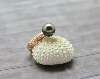 Tahitian Pearl Heirloom Ring