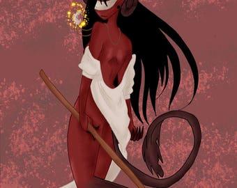 Executioner - Demon Lady | Art Print