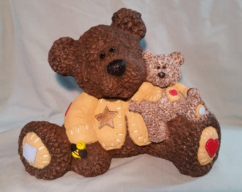 Hand-painted. Ceramic Teddy Bears