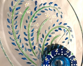 Colleen Vintage Glass Garden Flower Art Sun Catcher