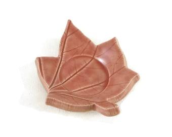 Leaf Dish - cherry blossom pink - spoon rest - incense holder - spring color - pink dish