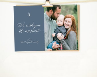 """Personalized Christmas Card • """"The Merriest"""""""