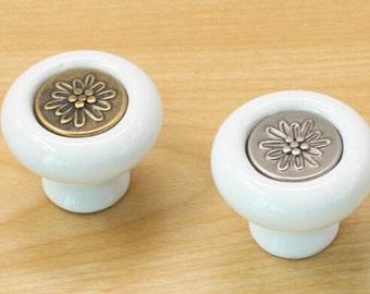 Ceramic Knobs Furniture Hardware European Pastoral Drawer Knobs Door Knobs Dresser Knobs Cabinet Hardware 3113