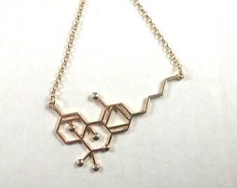 THC Molecule Necklace