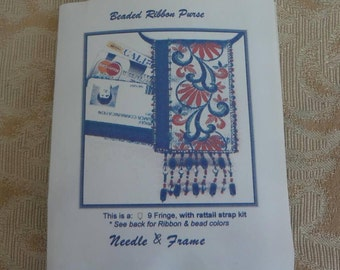 Needle & Frame's Beaded Ribbon Credit Card Purse Necklace KIT 2001