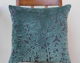 """Morris & Co Branch Fabric Cushion 18"""" x 18"""" - Velvet"""